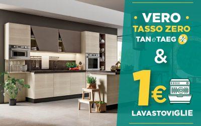 Anche ad Aprile: Tasso Zero & Lavastoviglie 1€!
