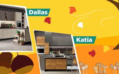 Dallas e Katia: cucine accoglienti e di tendenza